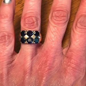 Jewelry - Beautiful gold plated sapphire ring Size 4